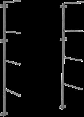 Materialstender med 4 knekter