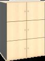 Global høy reol med 6 låsbare dører