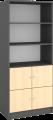 Global ekstra høy reol med 3 hyller og 4 låsbare dører