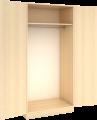 Garderobeskap med hylle og stang