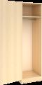 Garderobeskap med hylle og stang bredde 30,40, 50, 60 cm
