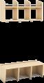 Gobi garderobehylle med 2 hyller