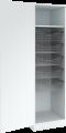 Garderobeskap med 5 trådkurver , bredde 40,50,60 cm