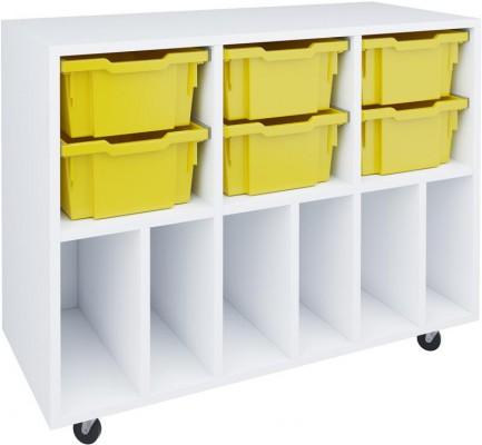 Box reol med 6 skuffer og 6 rom